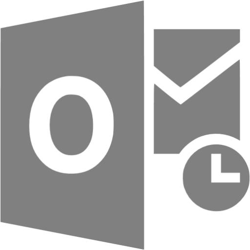 Gray Outlook Icon
