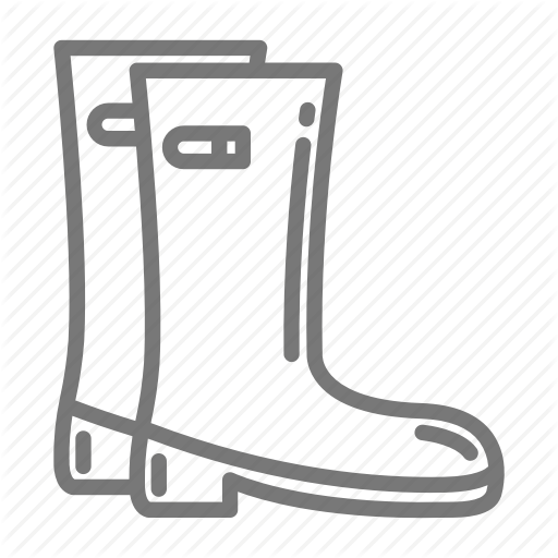Boots, Galoshes, Macintosh, Puddle, Rain, Rubber Icon