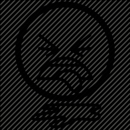 Emoji, Emoticon, Emotion, Face, Puke, Vomting Icon