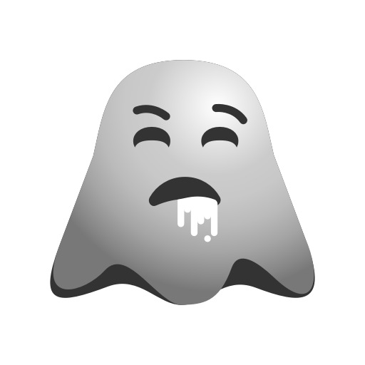 Emoji, Emoticon, Ghost, Nauseated, Puke, Smiley, Throw, Up
