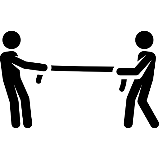 Rope, Children, Play, Pull, People, Game Icon