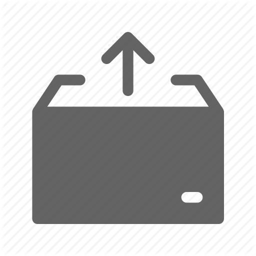 Box, Carton, Package, Pull Out Icon