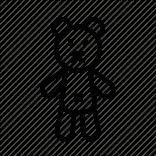 Bear, Children, Puppet, Teddy, Toy Icon