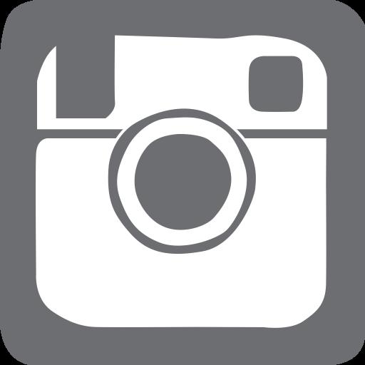 Social Media Instagram Glyph Icon