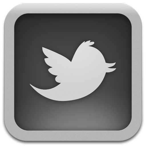 Twitter For Mac Grey Icon