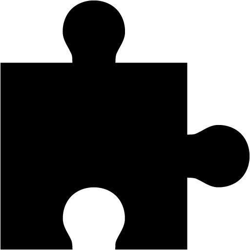 Black Puzzle Piece Icon