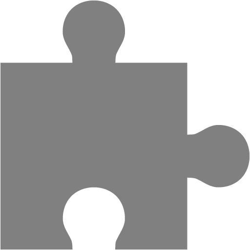 Gray Puzzle Piece Icon