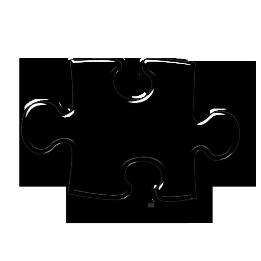 Horizontal Puzzle Piece Icon