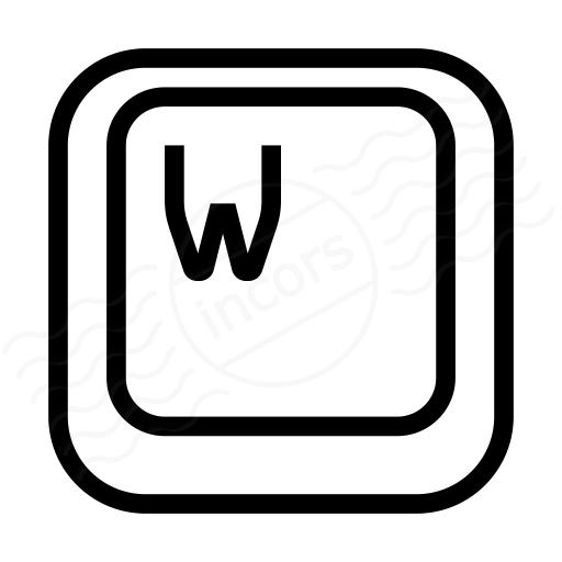 Iconexperience I Collection Keyboard Key W Icon