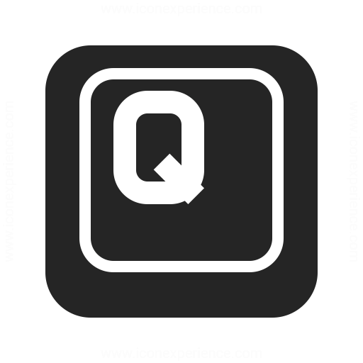 Keyboard Key Q Icon Iconexperience