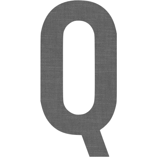 Grey Wall Letter Q Icon