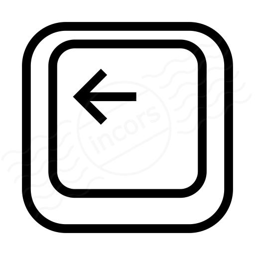Iconexperience I Collection Keyboard Key Left Icon