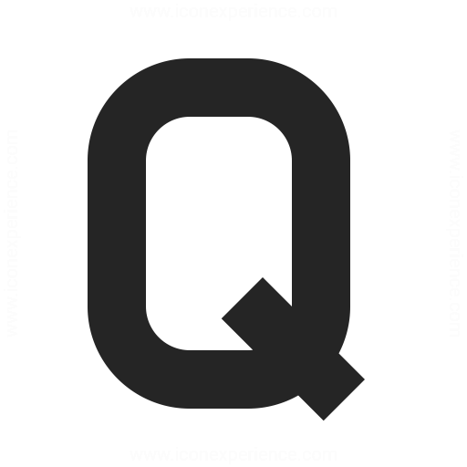 Symbol Q Icon Iconexperience