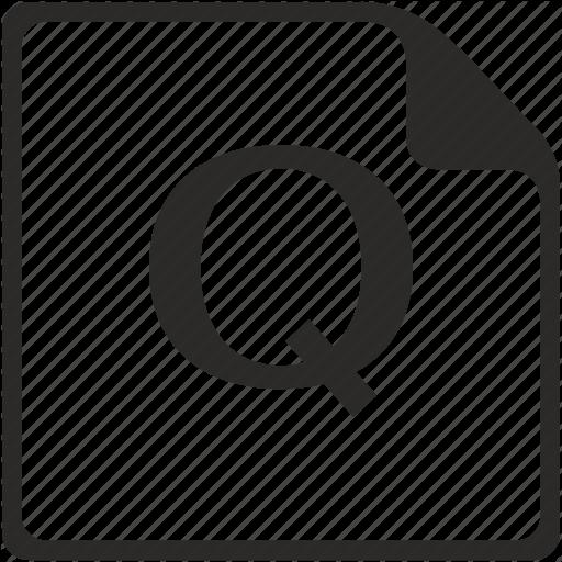 Doc, File, Key, Latin, Letter, Q Icon