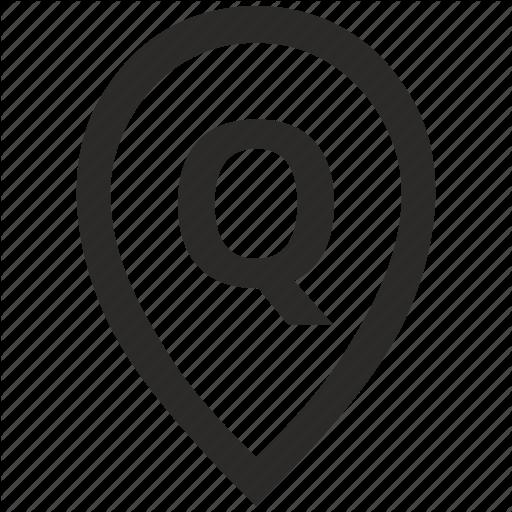 Geo, Letter, Location, Point, Pointer, Q Icon