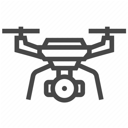 Drone, Flying, Quadcopter Icon
