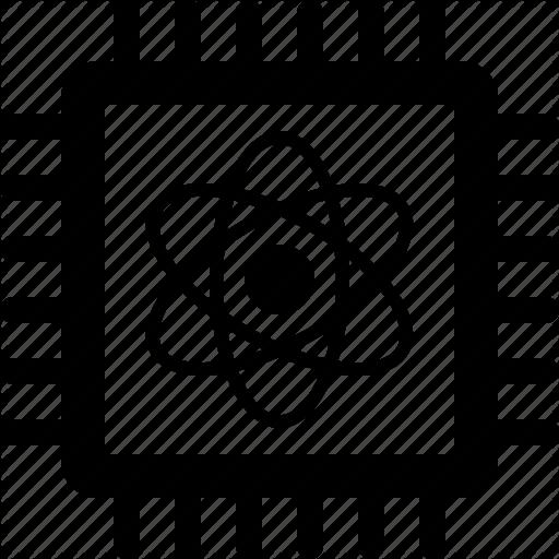 Chip, Computation, Computer, Computing, Quantum, Qubit, Qubits Icon