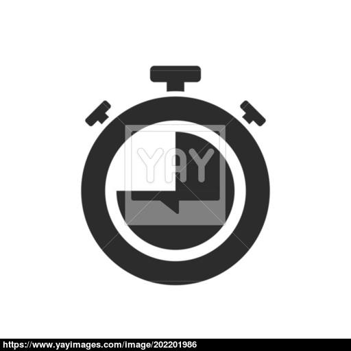 Isolated Stopwatch Icon Quarter To On A White Background Vector