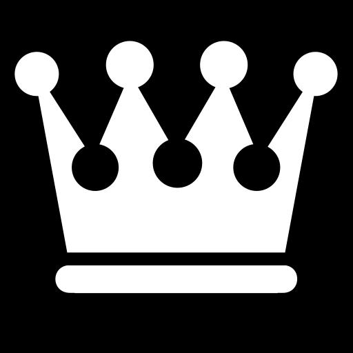Black Queen Crown Symbol
