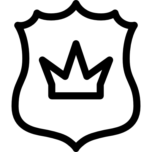 Shield With Queen Crown
