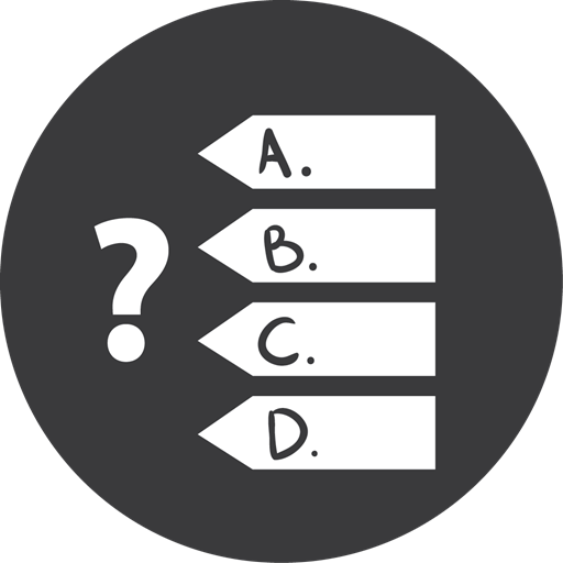 Games, Grey, Quiz Icon