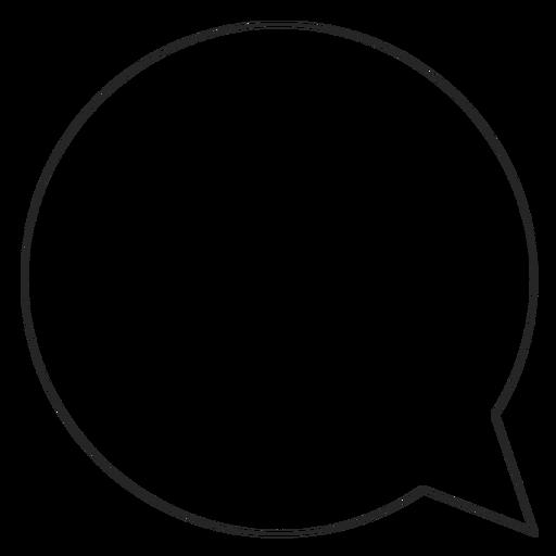 Instagram Chat Bubble Line Icon