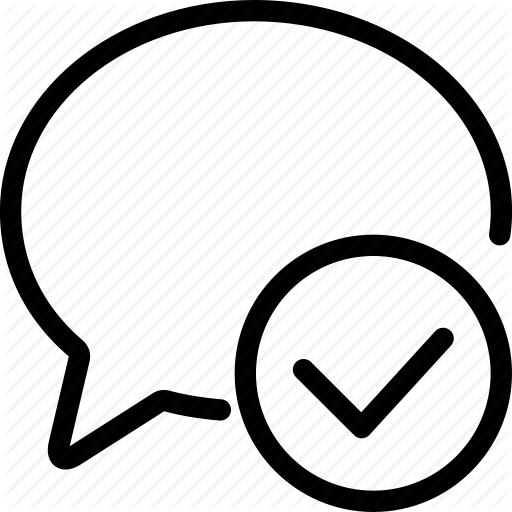 Chat, Chat Bubble, Check, Message, Sent, Speech Bubble, Tick Icon