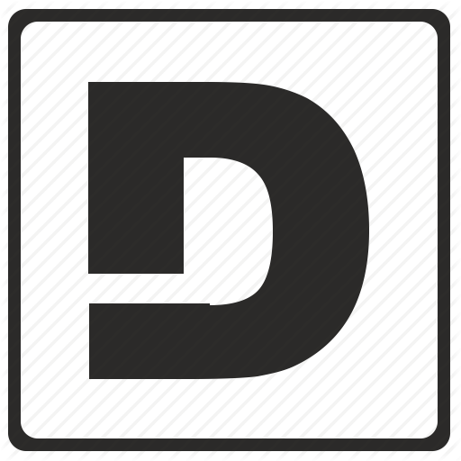 Alphabet, D, Latin, Letter, Modern Icon