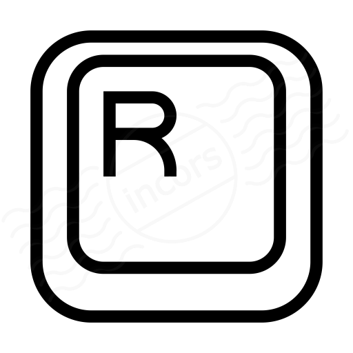 Iconexperience I Collection Keyboard Key R Icon