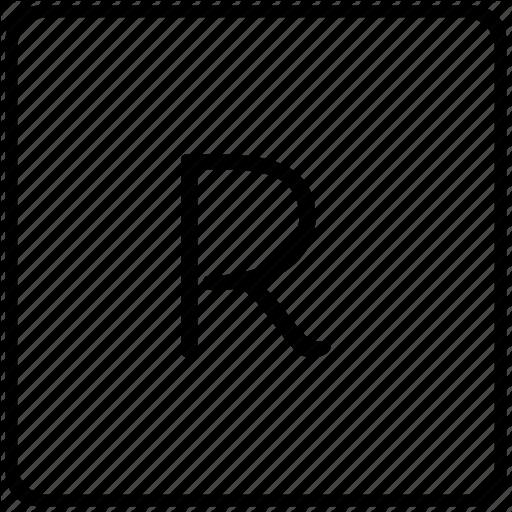 Key, Keyboard, Letter, R Icon
