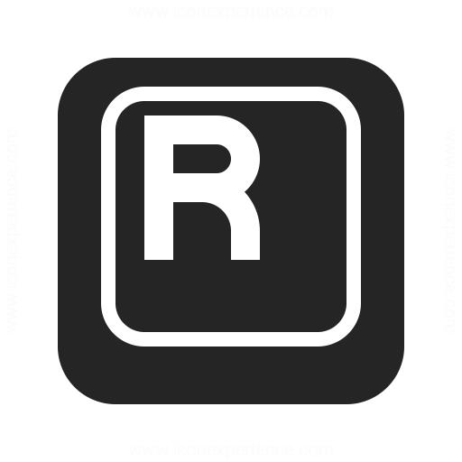 Keyboard Key R Icon Iconexperience