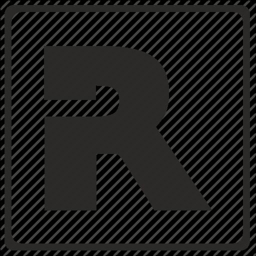 Alphabet, Latin, Letter, Modern, R Icon
