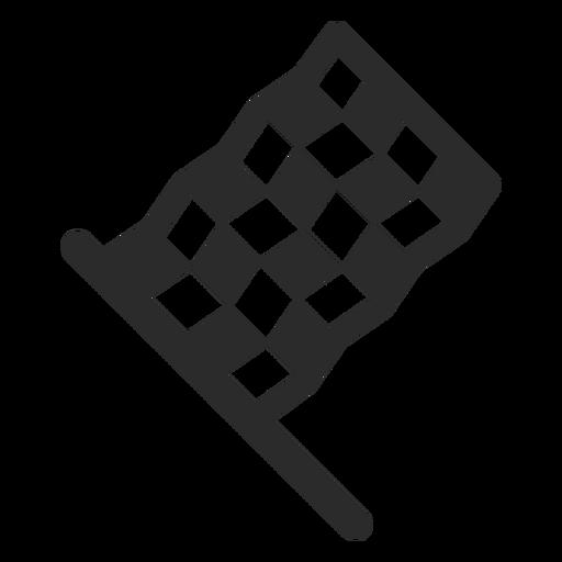 Racing Flag Stroke Icon