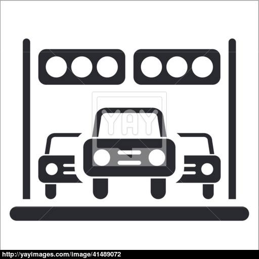 Vector Illustration Of Single Arrival Race Icon Vector