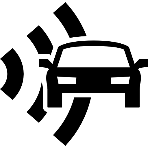 Car And Radar Security Icons Free Download