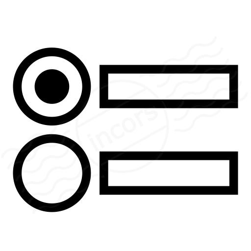 Iconexperience I Collection Radio Button Group Icon