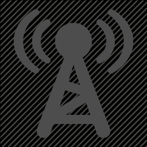 Broadcast, Communication, Radio, Tower, Wireless Icon