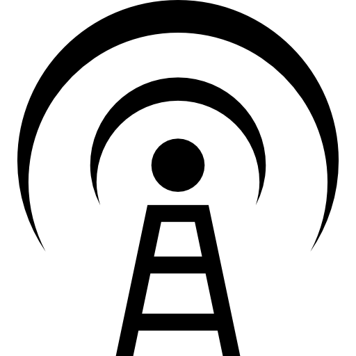 Broadcast Communications Tower Icons Free Download