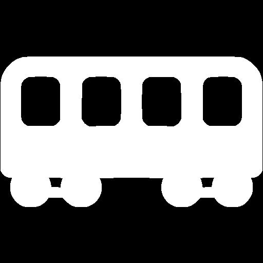 White Railroad Car Icon