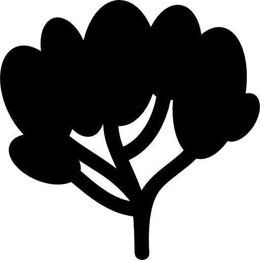Tree Of Black Foliage Icons Free Download