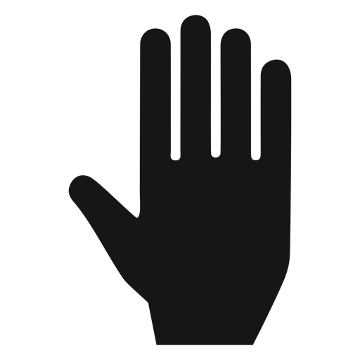 Hand Palm Silhouette Icon
