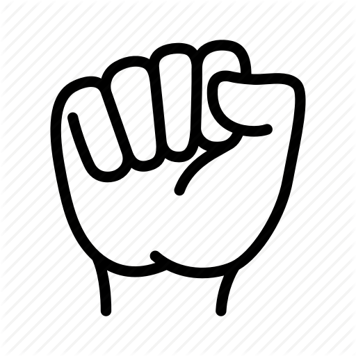 Fist, Gesture, Hand, Power, Protest, Rally, Revolution Icon