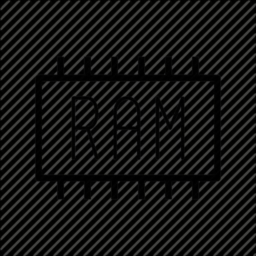 Chip, Memory, Ram Icon