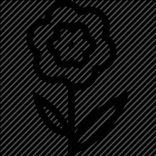 Flower, Line, Line Icon Icon