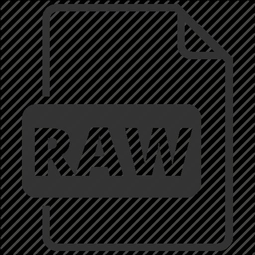 Format, Filename, Image, Raw, Raw Image Icon