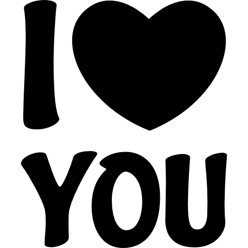 I Love You With A Heart Icons Free Download