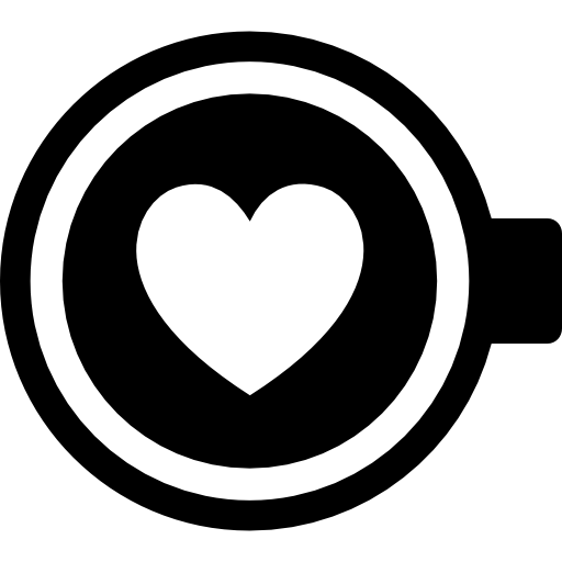 Coffee With Heart Icons Free Download