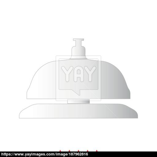 Reception Bell It Is Icon Vector