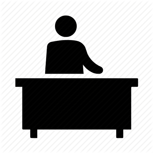 Administrative, Desk, Reception Icon