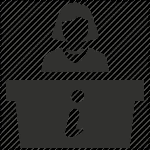 Desk, Help, Information, Reception, Receptionist Icon